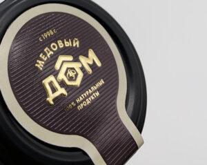 Этикетка на крышку банки для меда