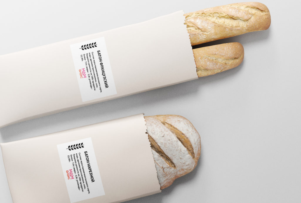 Этикетка на хлеб