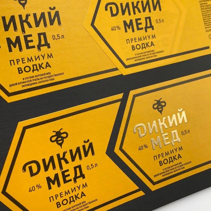 Этикетка на водку «Дикий мёд»