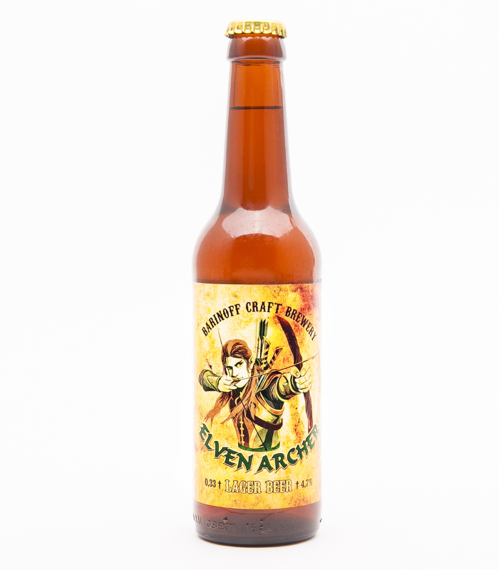 Этикетка на бутылку пива на пленке с матовым лаком