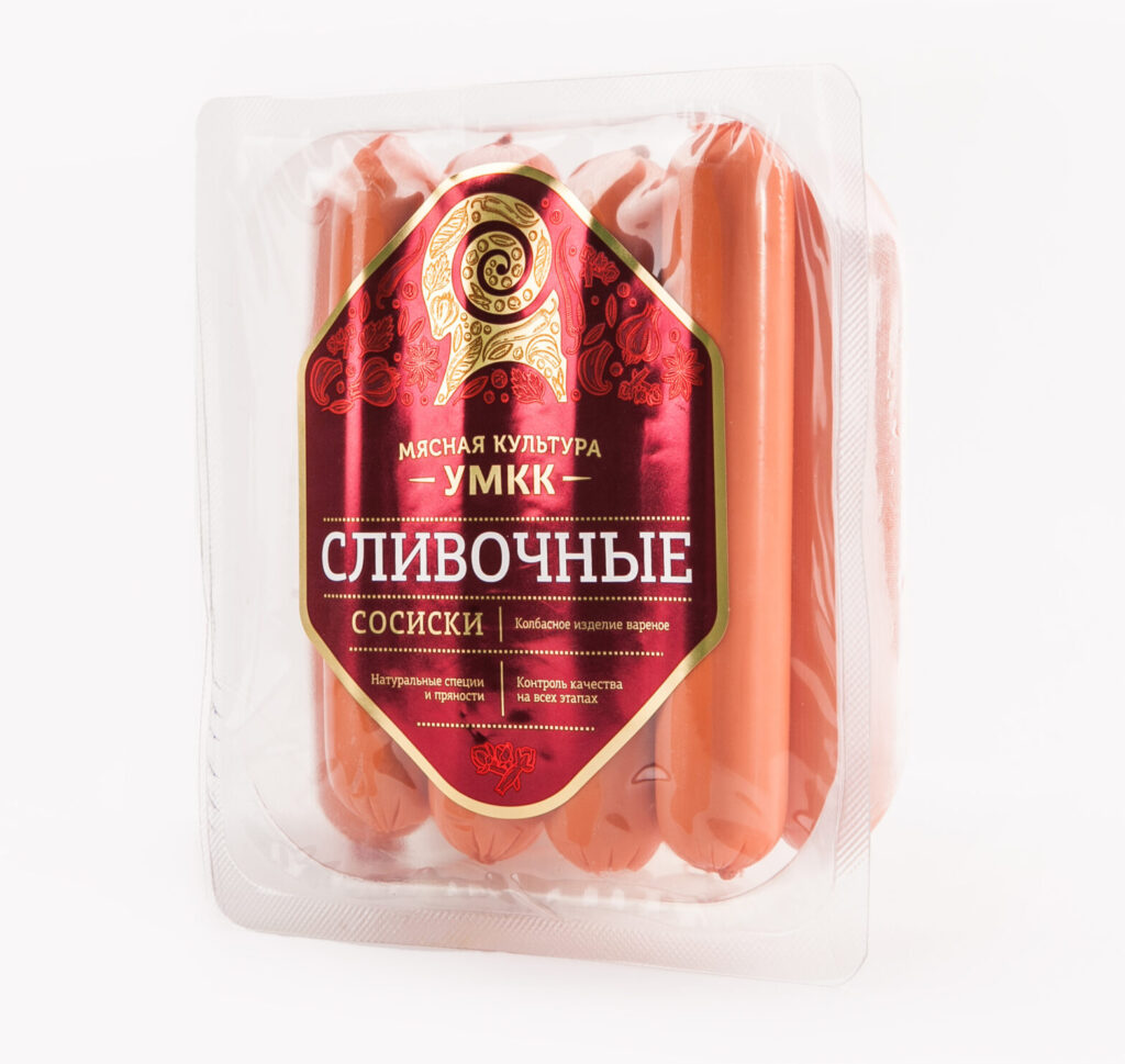 Металлизированная этикетка на сосиски