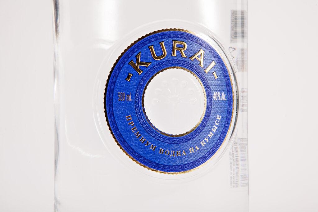 Этикетка на водку KURAI крупно