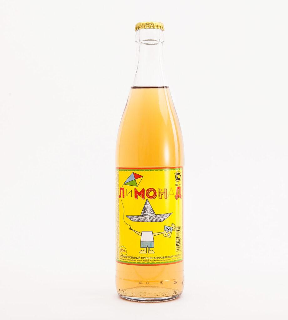 Бумажная этикетка на лимонад