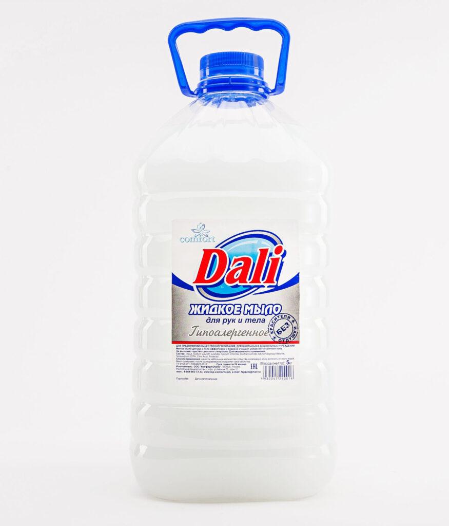 Бумажная этикетка на пластиковую бутылку жидкого мыла
