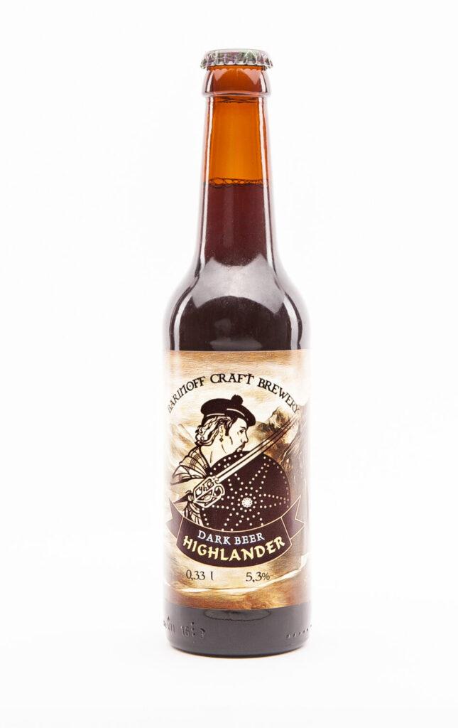Этикетка на бутылку пива | пленка и матовый лак