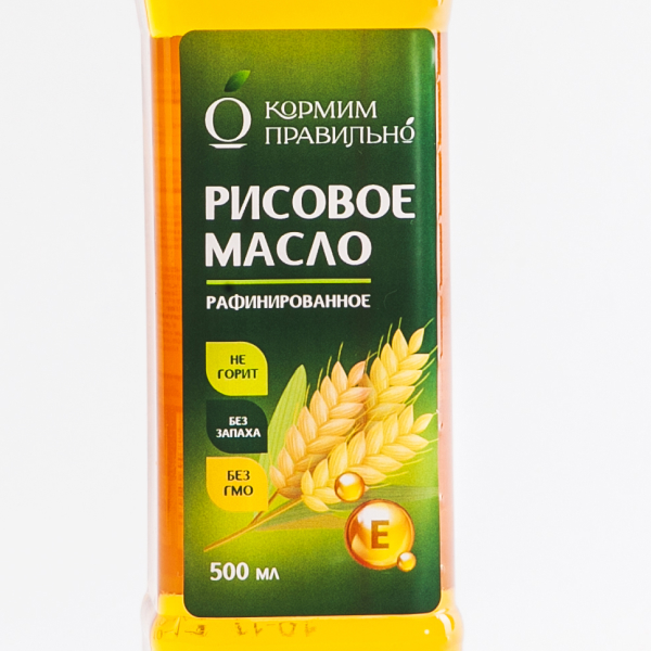 Пример этикетки на рисовое масло на пленке без отделки