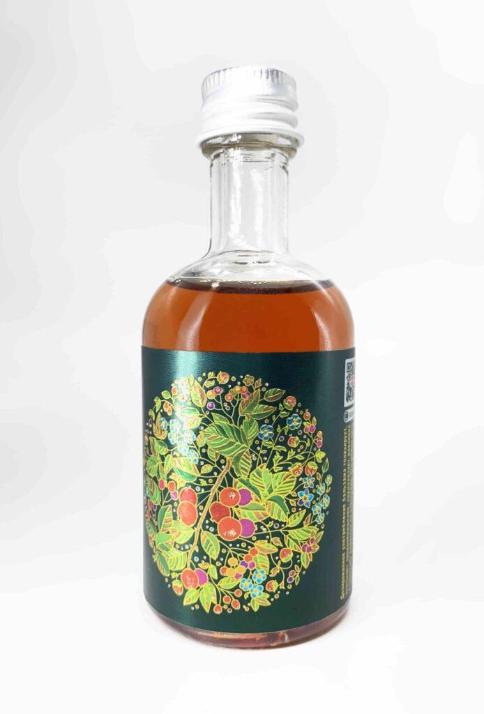 Этикетка на металлизированной бумаге на бутылку алкоголя